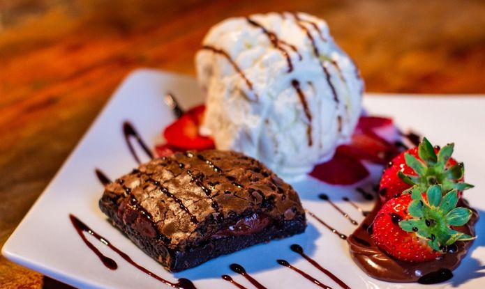 Brownie de Chocolate com Sorvete
